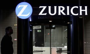 The logo of Zurich Insurance Group is seen on a building in Bern February 10, 2014. Zurich Insurance Group announced their 2013 financial results on February 13. Picture taken February 10, 2014. REUTERS/Thomas Hodel (SWITZERLAND - Tags: BUSINESS LOGO)