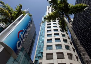 The building of a Citibank branch is seen at Paulista Avenue in Sao Paulo's financial center in this September 13, 2014 file photo. Citigroup Inc plans to exit retail banking in Argentina and Brazil, Bloomberg reported on February 18, 2016, citing a person familiar with the matter. REUTERS/Paulo Whitaker/Files