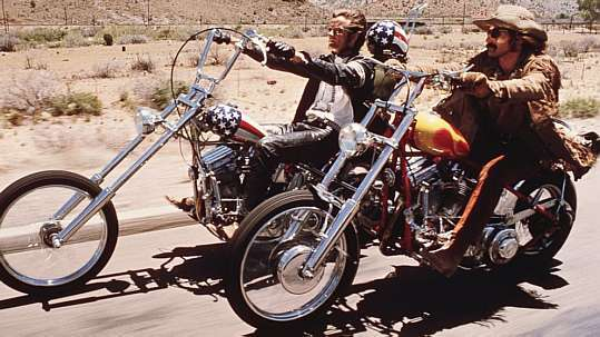 Peter Fonda e Denis Hopper no filme 'Sem Destino'